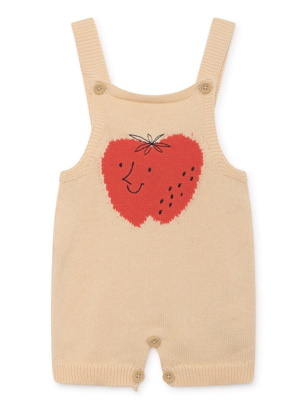 Strawberry knitted overall Bobo Choses