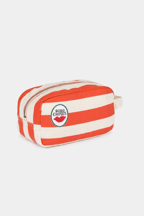 Red stripes pouch Bobo Choses