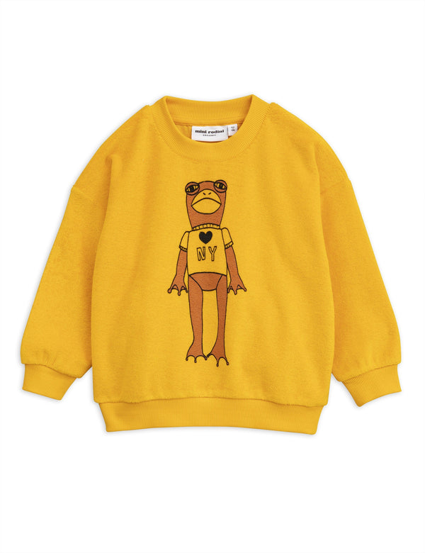 Frog terry sweatshirt - yellow Mini Rodini
