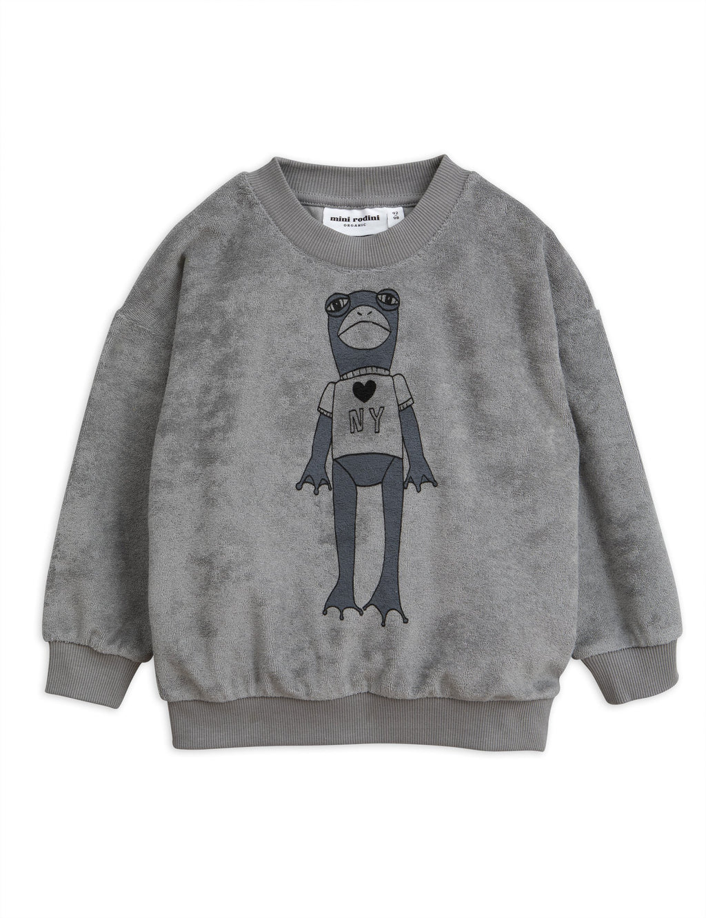 Frog terry sweatshirt - grey Mini Rodini