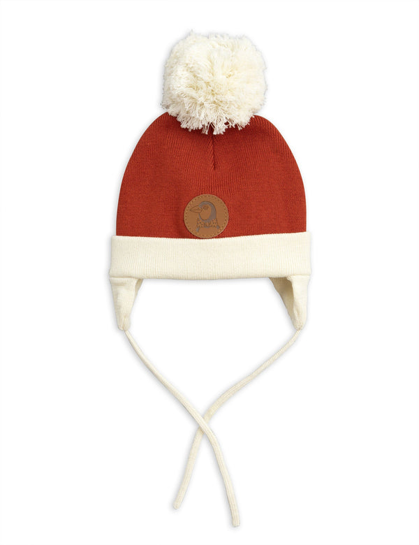 Red penguin baby hat Mini Rodini Hat Mini Rodini