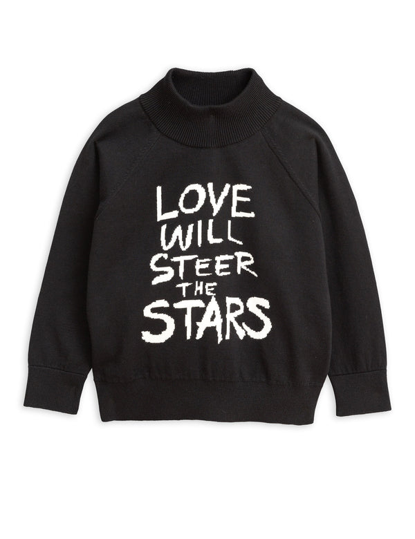 Love knitter sweater black Mini Rodini