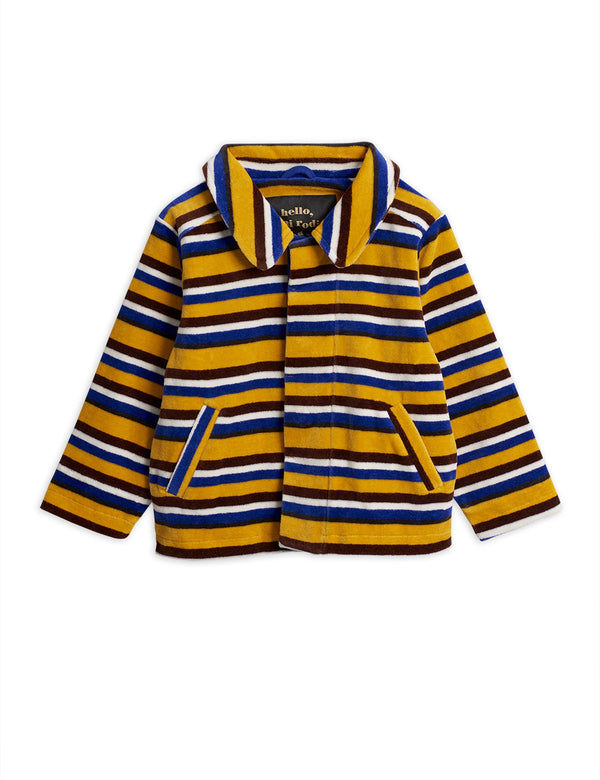 Velour stripe jacket Mini Rodini Jackets Mini Rodini