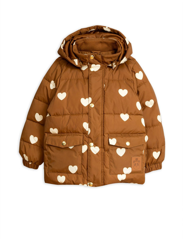 Hearts pico puffer jacket Mini Rodini
