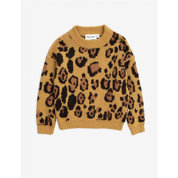 Leopard wool sweater Mini Rodini