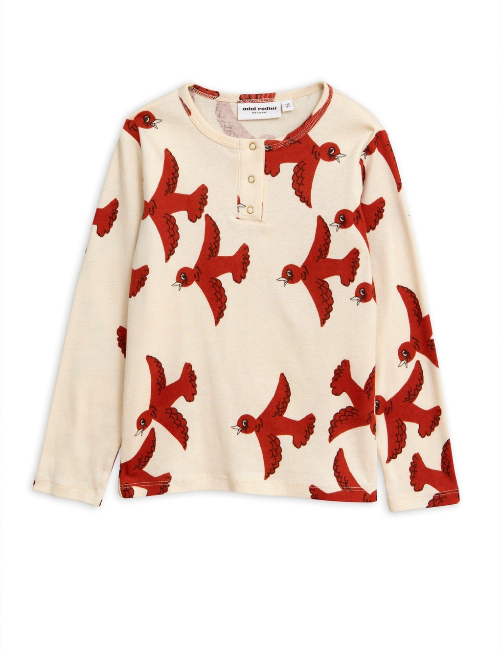 Flying birds grandpa shirt Mini Rodini Tops Mini Rodini