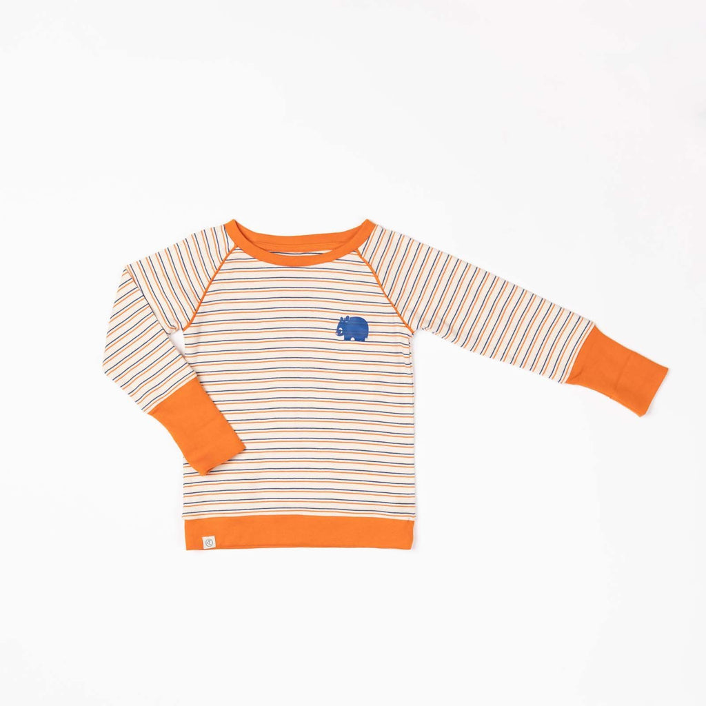 Henrik blouse rust striped AlbaBaby