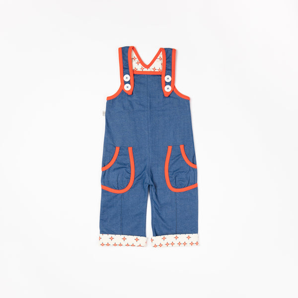 Charley crawlers vallarta blue AlbaBaby Dungarees Alba of Denmark