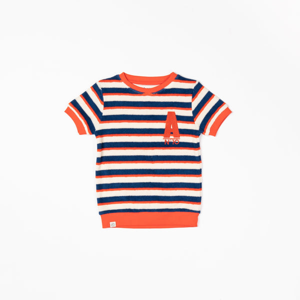 Roy t-shirt solidate blue striped AlbaBaby