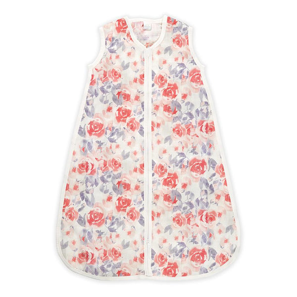 Silky soft sleeping bag watercolour garden aden + anais