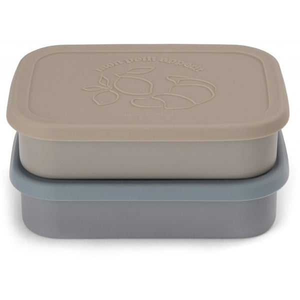 2-pack food boxes lid square blue Konges sløjd Dinnerware Konges sløjd