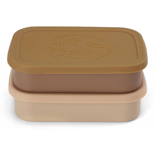 2-pack food boxes lid square rose Konges sløjd Dinnerware Konges sløjd
