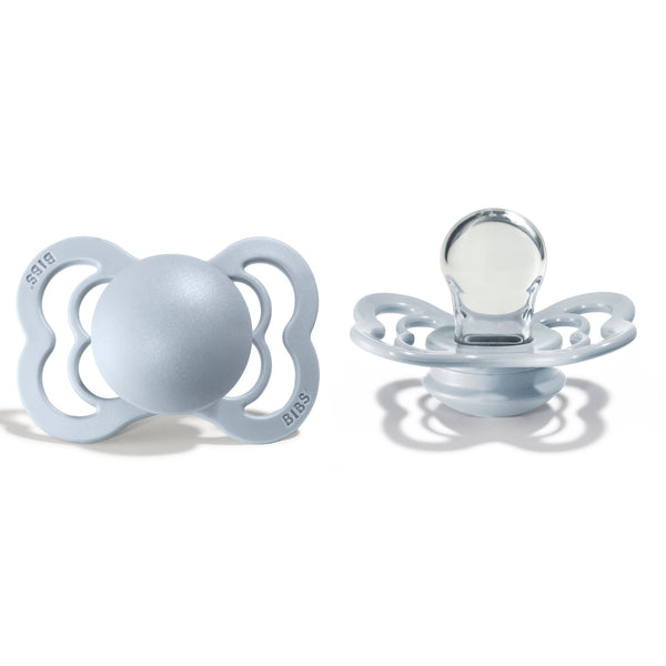 Bibs supreme pacifier silicone 0-6 M baby blue Pacifier Bibs