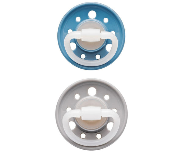 2-pack pacifiers sky blue | cloud +6 M nip Pacifier nip
