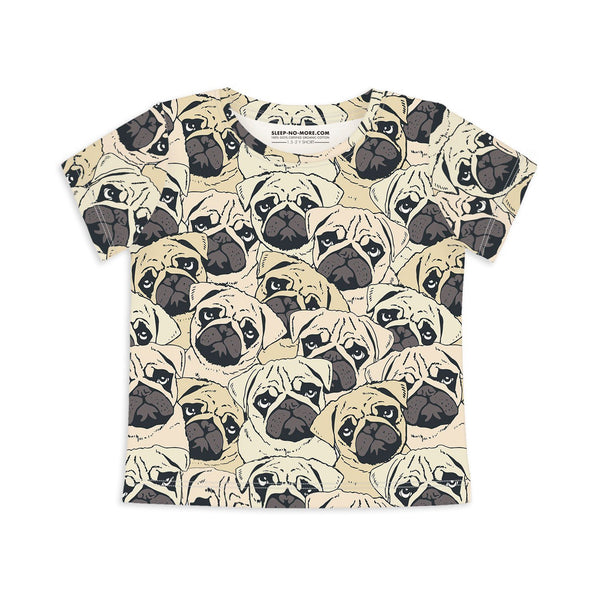 T-shirt pug off Top sleep no more