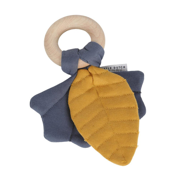 Crinkle toy leaves pure & nature blue Little Dutch