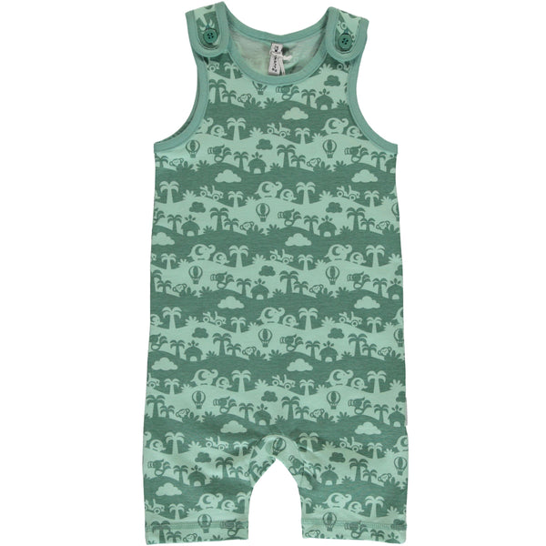 Short dungarees jungle landscape Maxomorra