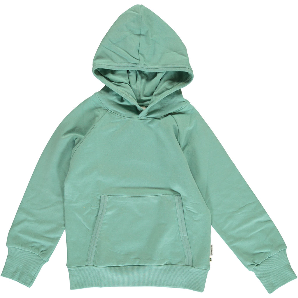 Hoodie sweat soft teal Maxomorra Tops Maxomorra