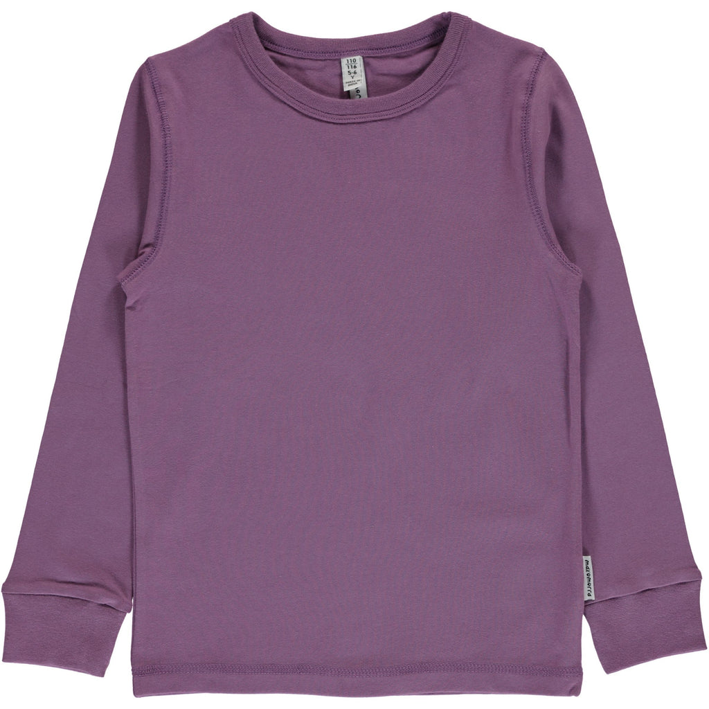Dusty purple LS top Maxomorra Tops Maxomorra