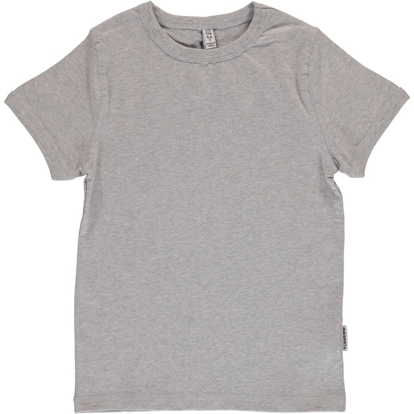 Light grey melange SS top Maxomorra Tops Maxomorra