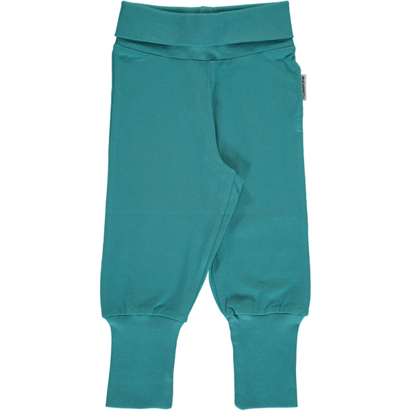 Rib pants soft petrol Maxomorra Bottoms Maxomorra