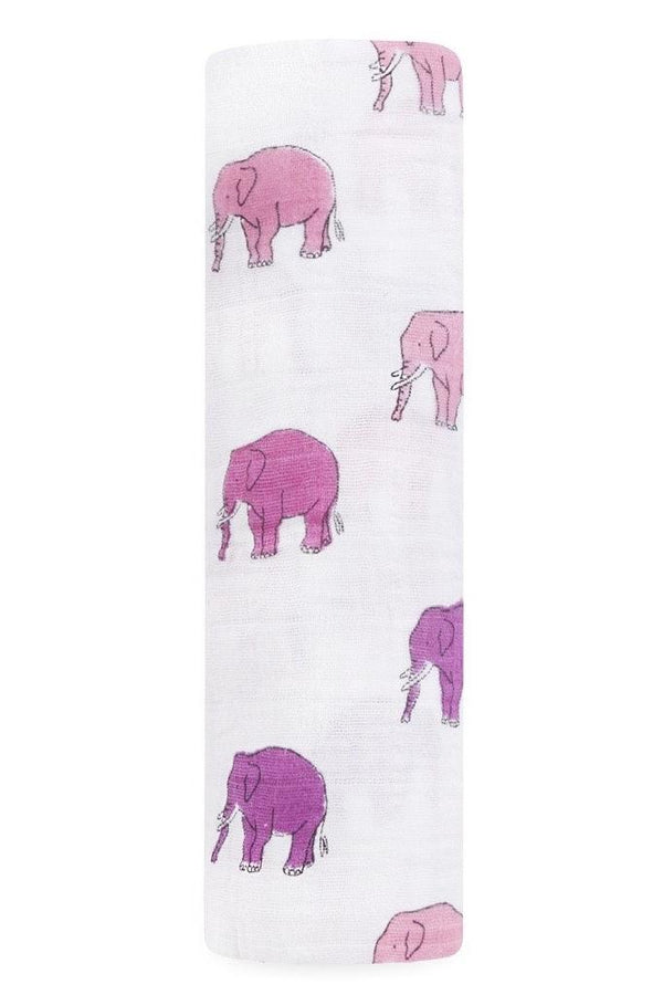 Elephant parade swaddle muslin