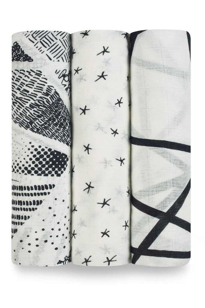 Midnight silky soft muslins - 3 pack