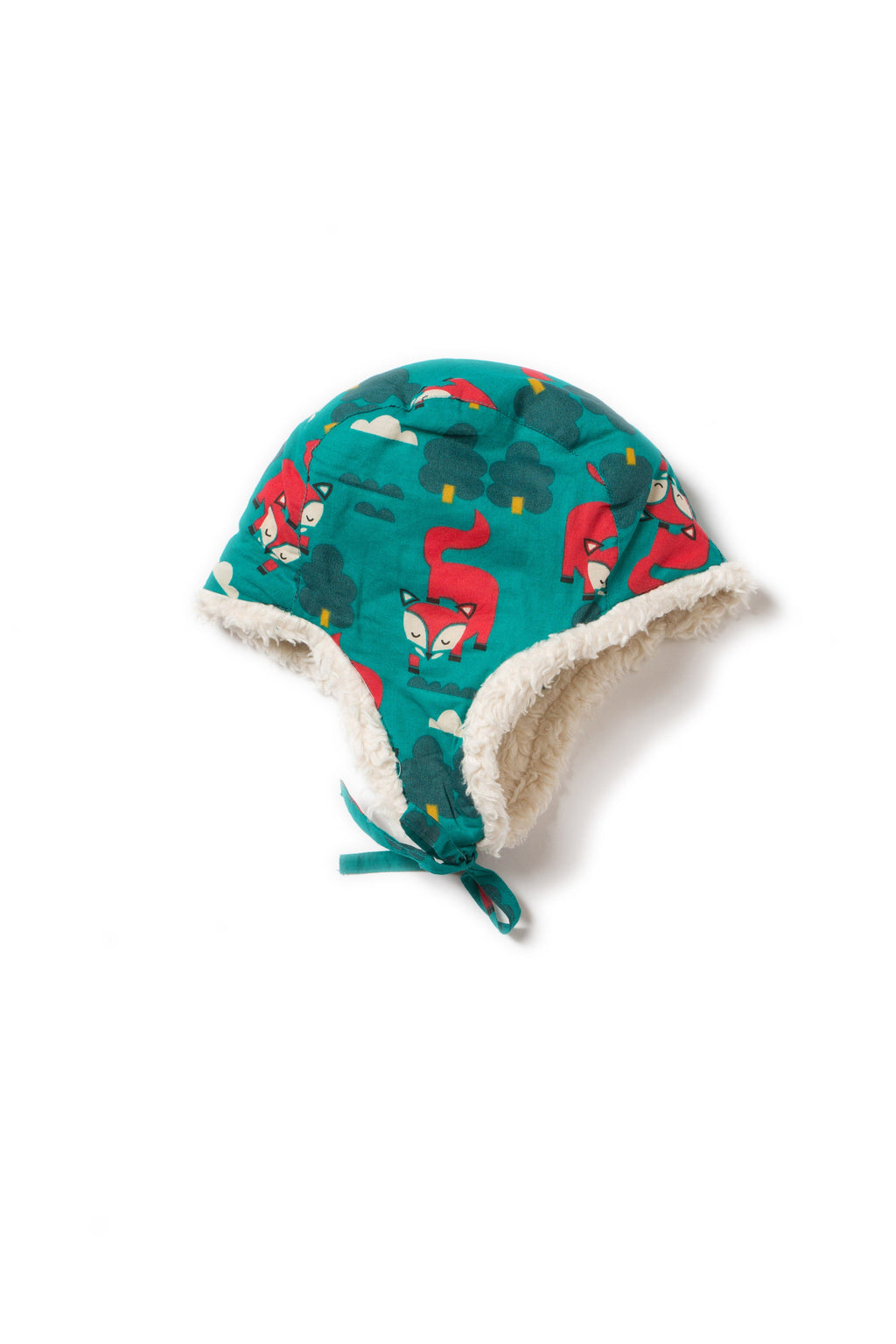 Winter fox sherpa hat Little Green Radicals