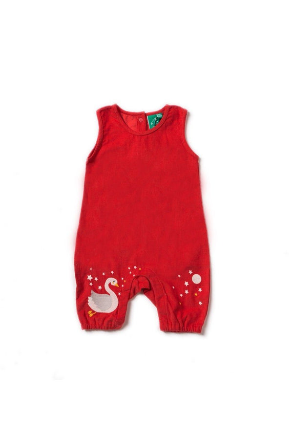Night swimming embroidered dungarees Little Green Radicals