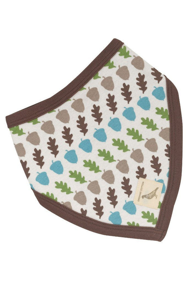 Reversible acorn bib - brown