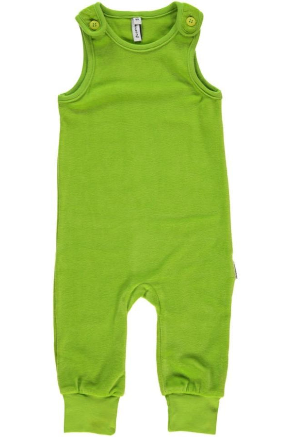 Velour green dungarees