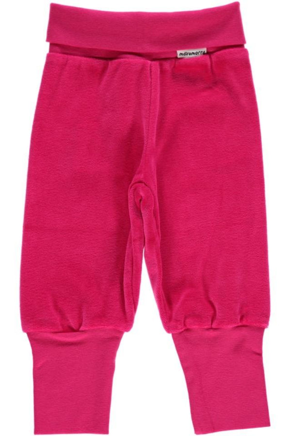 Pink velour pants Maxomorra Bottoms Maxomorra