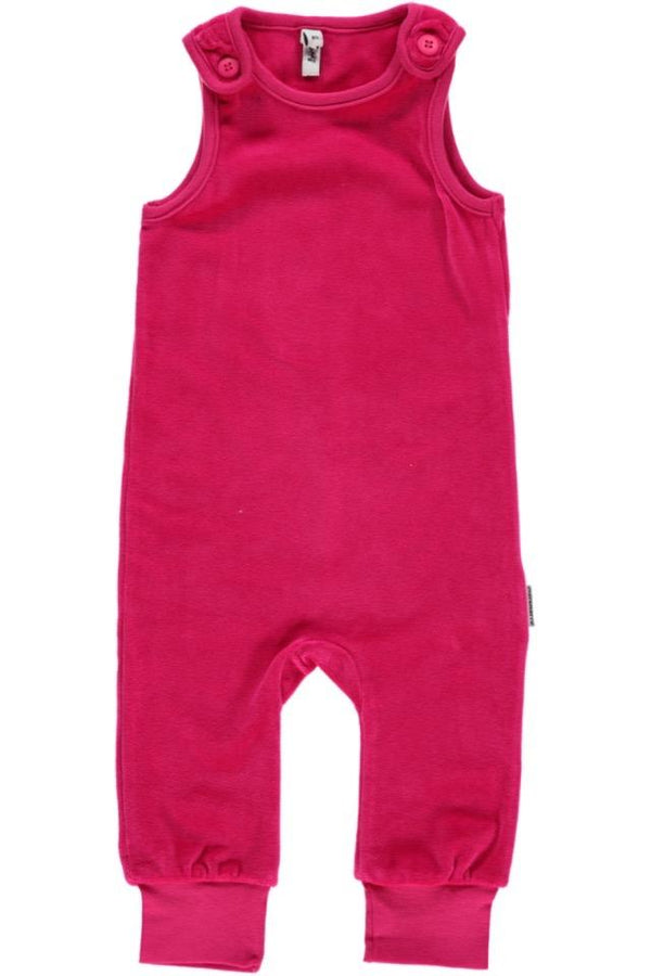 Velour pink dungarees