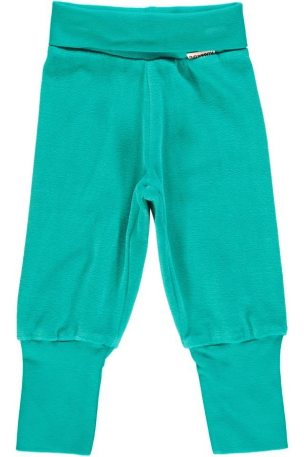Turquoise velour pants Bottoms Maxomorra