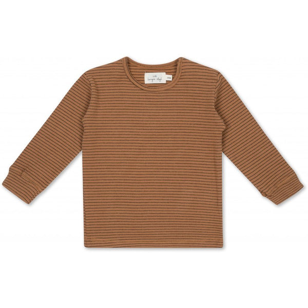 Kaya LS top stripes mocca/beige Tops Konges sløjd