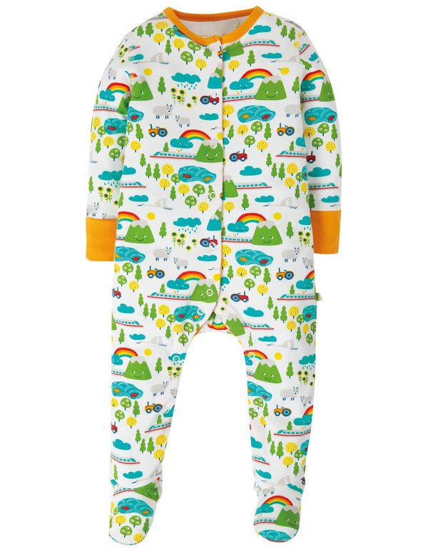 Land of the rising sun babygrow Frugi Playsuit Frugi