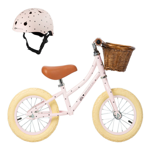 Balance bike First Go! Bonton-R-Pink HELMET INCLUDED