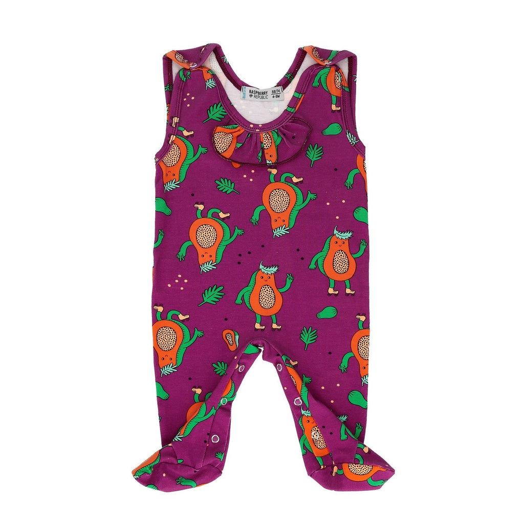 Baby sleepsuit papaya power Raspberry Republic Playsuit Raspberry Republic