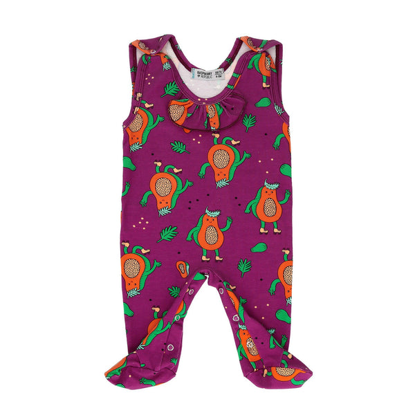 Baby sleepsuit papaya power Raspberry Republic