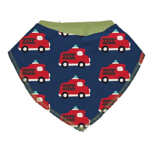 Fire truck dribble bib Maxomorra Bib Maxomorra
