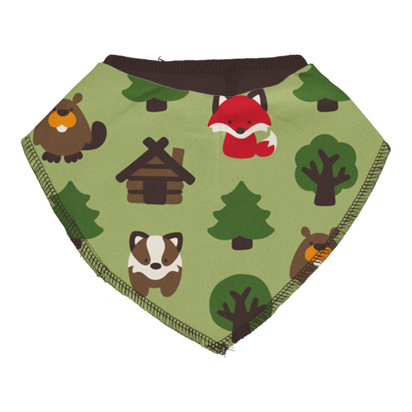 Green forest dribble bib Maxomorra Bib Maxomorra