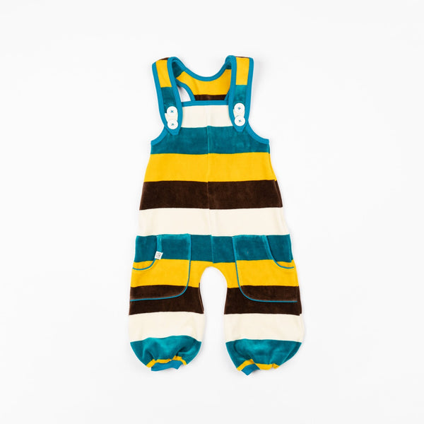 Baggy crawlers turkish tile love stripes AlbaBaby Dungarees Alba of Denmark