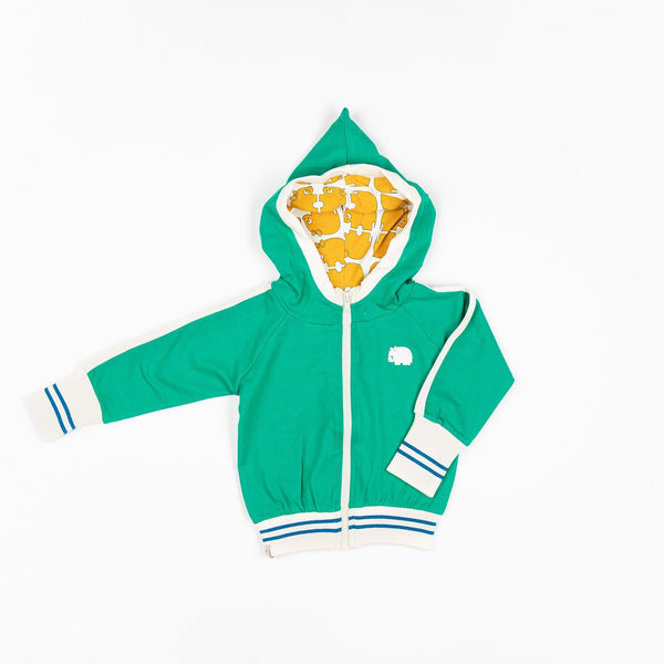 Robin zipper hoodie pepper green AlbaBaby Jackets Alba of Denmark
