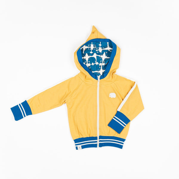 Robin zipper hoodie bright gold AlbaBaby Jackets Alba of Denmark