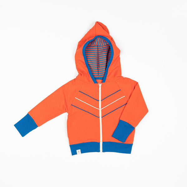 Adam zipper hood orange.com AlbaBaby Jackets Alba of Denmark
