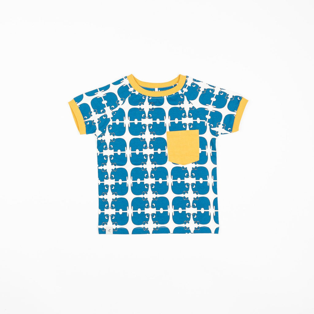 Simon t-shirt snorkel blue wanna be an animal AlbaBaby Tops Alba of Denmark