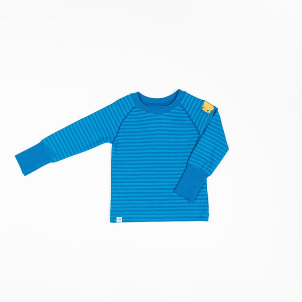 Henrik blouse methyl blue magic stripes AlbaBaby