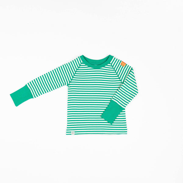 Henrik blouse pepper green magic stripes AlbaBaby
