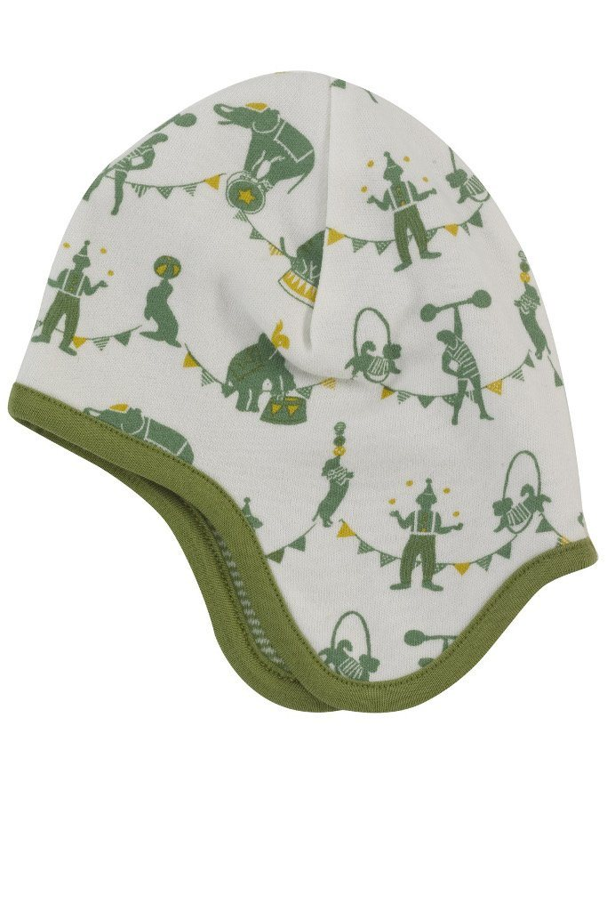 Reversible circus bonnet - green