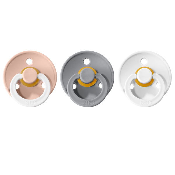 Bibs pacifier 0-6 M 3-pack blush night + cloud + white Pacifier Bibs
